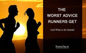 worst running advice banner