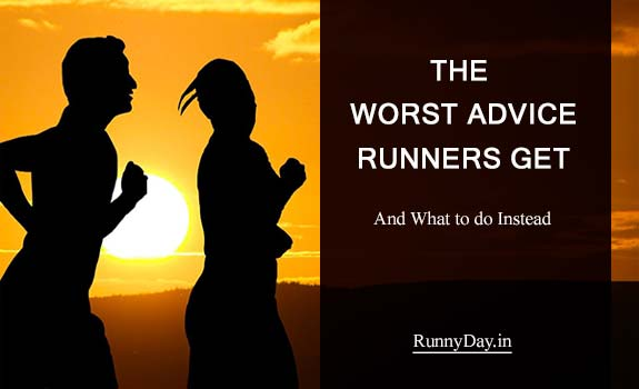 worst running advice banner