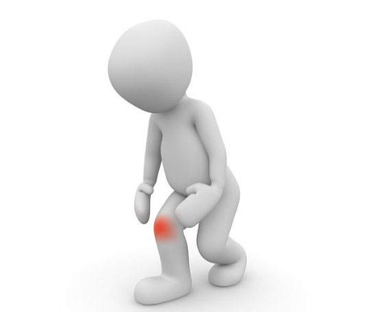 cartoon showing knee pain