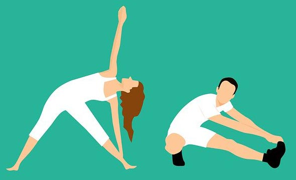 dynamic stretching vs static stretching cartoon