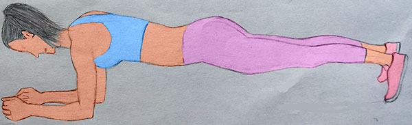elbow plank illustration